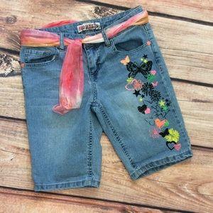 Sqeeze Girls Denim Bermuda Shorts Size 12